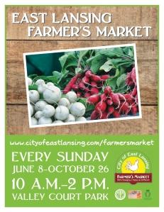 new farmers market poster design idea