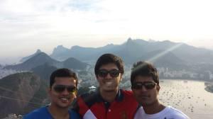 MSU students Deepesh Telesra, Raghav Rajan and Arshad Mulla in Rio