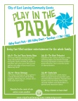 play in the park flyer 2014