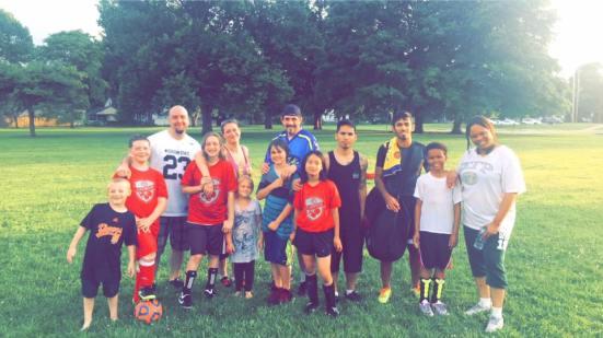 Helal Alrashedi and his soccer team.