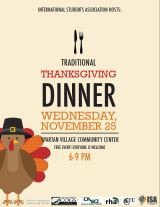 Happy Thanksgiving – Free dinners and important reminders