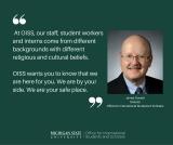 A message from OISS Director, JamesDorsett
