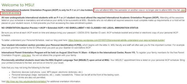 not attend MSU
